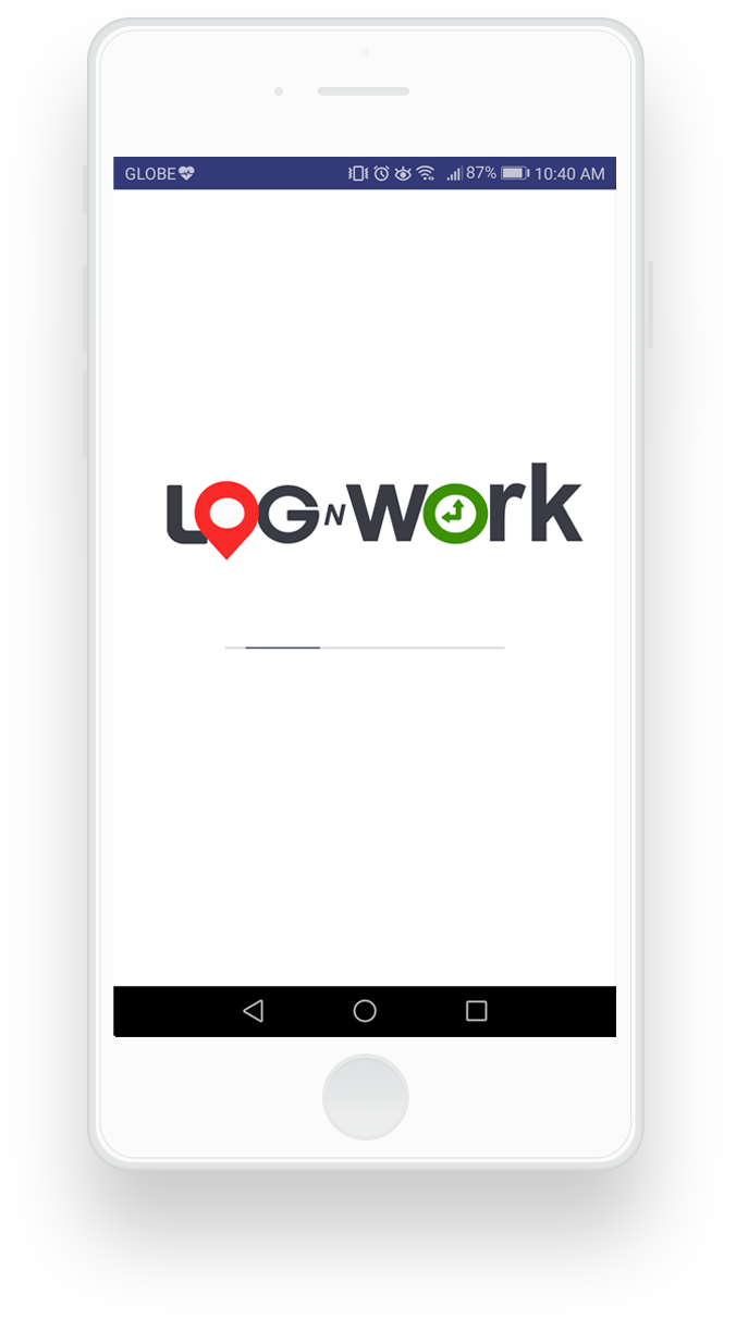 lognwork mobile application loading screen